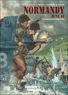 Couverture du livre « Normandy june 44 t.1 ; Omaha beach, Pointe du hoc » de Jerome Felix et Alain Paillou et Djian aux éditions Vagabondages