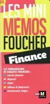 Couverture du livre « Les mini mémos Foucher ; finance » de Astolfi Pierre aux éditions Foucher