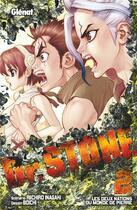 Couverture du livre « Dr. Stone T.2 » de Riichiro Inagaki et Boichi aux éditions Glenat