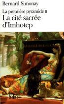 Couverture du livre « La cite sacree d'imhotep » de Bernard Simonay aux éditions Gallimard