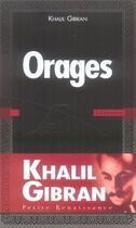 Couverture du livre « Orages » de Khalil Gibran aux éditions Presses De La Renaissance