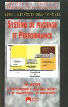 Couverture du livre « Systèmes de pilotage et performance » de William Azan aux éditions Eska