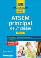 Couverture du livre « ATSEM principal de 2e classe ; catégorie C ; tout-en-un (concours 2018) » de Sandrine Marichez aux éditions Studyrama
