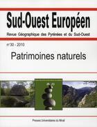 Couverture du livre « Patrimoines Naturels » de Collectif aux éditions Pu Du Mirail