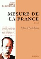 Couverture du livre « Mesure de la France » de Pierre Drieu La Rochelle aux éditions Pardes