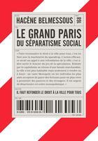 Couverture du livre « Le Grand Paris du séparatisme social » de Hacene Belmessous aux éditions Post