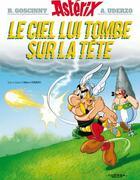Couverture du livre « Astérix t.33 ; le ciel lui tombe sur la tête » de Rene Goscinny aux éditions Albert Rene
