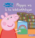 Couverture du livre « Peppa va à la bibliothèque » de Collectif aux éditions Hachette