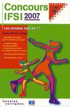 Couverture du livre « Concours ifsi 2007 » de Collectif aux éditions Lamarre