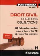 Couverture du livre « Droit civil ; droit des obligations » de Jean-Baptiste Laydu aux éditions Studyrama