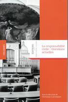 Couverture du livre « La responsabilité civile » de Christian Larroumet aux éditions Pantheon-assas