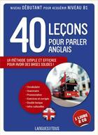 Couverture du livre « 40 leçons pour parler anglais ; l'anglais pour tous » de Michel Marcheteau aux éditions Pocket