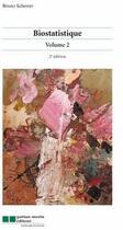 Couverture du livre « Biostatistique t.2 (2e édition) » de Bruno Scherrer aux éditions Gaetan Morin
