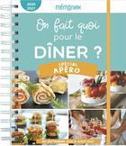 Couverture du livre « On fait quoi pour le diner ? special apero memoniak 2020-2021 » de Delphine Paslin aux éditions Editions 365