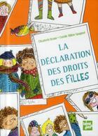 Couverture du livre « La déclaration des droits des filles » de Elisabeth Brami et Estelle Billon-Spagnol aux éditions Talents Hauts
