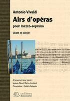 Couverture du livre « Airs D'Operas De Vivaldi Pour Mezzo-Soprano, Partitions Chant Et Clavier » de Antonio Vivaldi aux éditions Buissonnieres