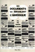 Couverture du livre « 63 documents qui ébranlent l'Amérique ; CIA, FBI, maison blanche » de Jesse Ventura aux éditions Max Milo