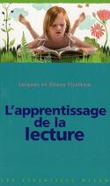 Couverture du livre « L'apprentissage de la lecture » de Eliane Fijalkow et Jacques Fijalkow aux éditions Milan