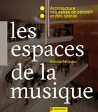 Couverture du livre « Les espaces de la musique ; architecture des salles de concert et des opéras » de Antoine Pecqueur aux éditions Parentheses