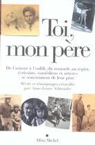 Couverture du livre « Toi mon père » de Anne-Laure Schneider aux éditions Albin Michel