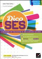Couverture du livre « Dictionnaire d'économie et de sciences sociales » de Jean-Yves Capul aux éditions Hatier
