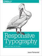 Couverture du livre « Responsive Typography » de Jason Pamental aux éditions O'reilly Media