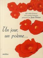 Couverture du livre « Un jour un poème » de Jean Orizet aux éditions Omnibus