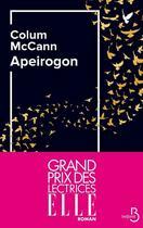 Couverture du livre « Apeirogon » de Colum Mccann aux éditions Belfond