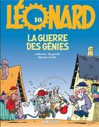 Couverture du livre « Léonard t.10 ; la guerre des génies » de Bob De Groot et Turk aux éditions Lombard