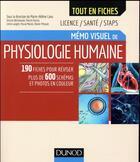 Couverture du livre « Mémo visuel de physiologie humaine » de Collectif aux éditions Dunod