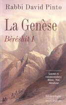 Couverture du livre « La Genese, Bereshit 1 » de David Pinto aux éditions Bibliophane-daniel Radford