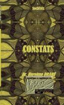 Couverture du livre « Constats » de Harouna Drame aux éditions Dhart