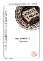 Couverture du livre « Egyptologie » de Yoyote Jean aux éditions Le Livre Qui Parle