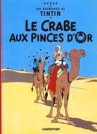 Couverture du livre « Les aventures de Tintin T.9 ; le crabe aux pinces d'or » de Herge aux éditions Casterman