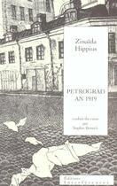 Couverture du livre « Petrograd an 1919 » de Zinaida Hippius aux éditions Interferences