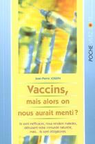 Couverture du livre « Vaccins » de Jean-Pierre Joseph aux éditions Vivez Soleil