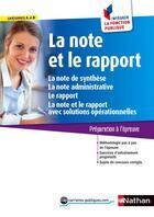 Couverture du livre « La note et le rapport » de Pascal Tuccinardi aux éditions Nathan