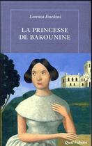 Couverture du livre « La princesse de Bakounine » de Lorenza Foschini aux éditions Table Ronde