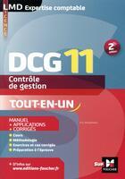 Couverture du livre « DCG 11 - contrôle de gestion ; manuel et applications (2e édition) » de Eric Margotteau aux éditions Foucher