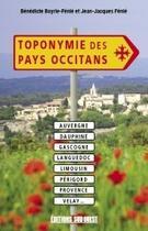 Couverture du livre « Toponymie des pays occitans » de Jean-Jacques Fenie aux éditions Sud Ouest Editions