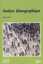 Couverture du livre « Analyse démographique » de Michele Dion aux éditions Pu De Dijon