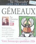 Couverture du livre « Gemeaux (édition 2006) » de Collectif aux éditions Editions 365