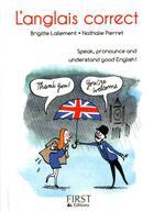 Couverture du livre « Anglais correct » de Brigitte Lallement aux éditions First