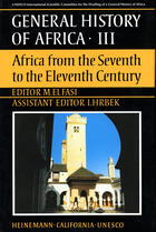 Couverture du livre « General history of africa t.3 ; africa from the seventh to eleventh century » de M Elfasi aux éditions Heinemann