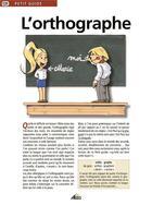 Couverture du livre « L'orthographe » de Collectif aux éditions Aedis