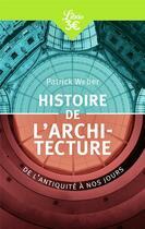 Couverture du livre « Histoire de l'architecture ; de l'Antiquité à nos jours » de Patrick Weber aux éditions J'ai Lu