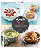 Couverture du livre « Cuisine et vins de France ; 53 recettes & 365 menus sains & faciles (édition 2018) » de Reynier Lucie aux éditions Marie-claire