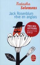 Couverture du livre « Jack Rosenblum rêve en anglais » de Natasha Solomons aux éditions Lgf