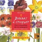 Couverture du livre « Bonnes à croquer ; fleurs comestibles de nos campagnes » de Gilbert Fabiani aux éditions Equinoxe