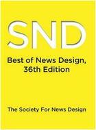 Couverture du livre « Best of news design 36 » de Snd aux éditions Rockport